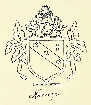 Crest of John Harvey. Image from The North Carolina Booklet, July 1909.