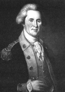 Portrait of John Sevier by Charles Willson Peale. Image from the Tennessee Encyclopedia of History and Culture.