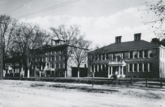 """Goldsboro Schools--1910--The Middle Building built in 1857 as the Wayne Female College closed in 1862 to become a Hospital for the Confederate Army. """