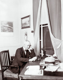 Oliver Maxwell Gardner, at his desk