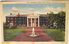 """Vintage Postcard - Greensboro, College, Greensboro, N.C."""