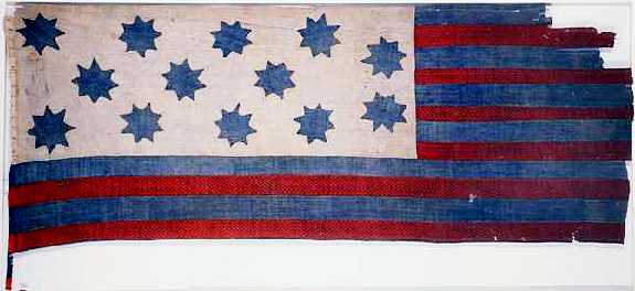 Guilford County Flag, made circa 1781-1795. Image from the North Carolina Museum of History.