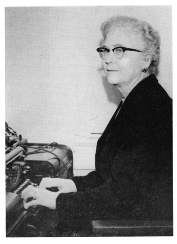 Photograph of Bernice Kelly Harris, circa 1956, by Bernadette Hoyle.  In <i>Tarheel Writers I Know,</i> by Bernadette Hoyle, published 1956 by John F. Blair, Publisher, Winston-Salem, NC. Image used by permission.