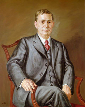 Portrait of R.D.W. Connor by William C. Fields, 1973. Image from the North Carolina Museum of History.