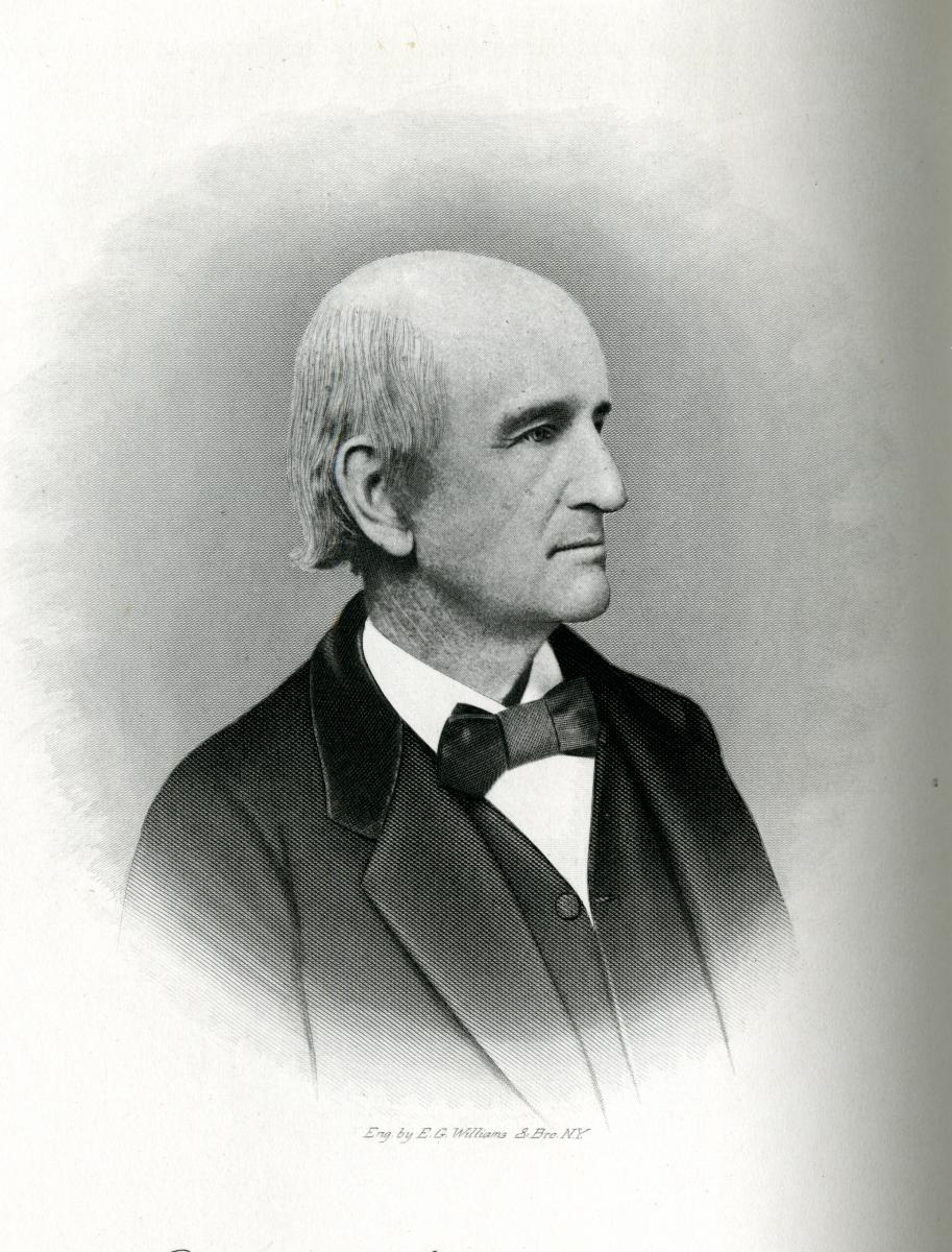 Engraving of John De Berniere Hooper.  In Samuel A. Ashe's <i>Biographical History of North Carolina, Vol. VII</i>, published 1908.  From the collections of the State Library of North Carolina.