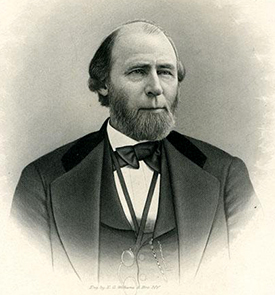 Engraving of governor William W. Holden. Image from the North Carolina Museum of History.