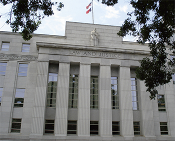 The North Carolina Justice Building in downtown Raleigh. Image from the North Carolina Administrative Office of the Courts.