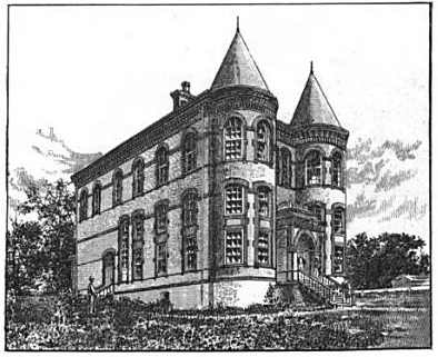 Leonard Medical Building, as pictured in The Baptist Home Mission Monthly, November 1888.