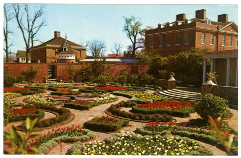 Maude Moore Latham Memorial Garden of Tryon Palace, New Bern, North Carolina. Courtesy of the North Carolina Post Card Collection, UNC Libraries.