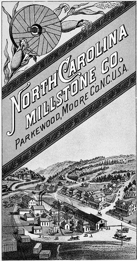 brochure for the North Carolina Millstone Company.