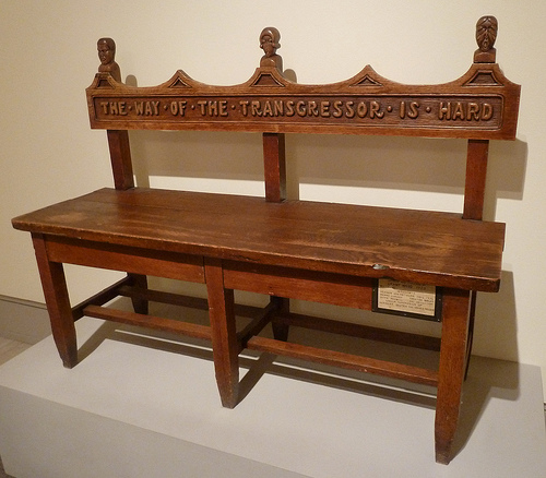 Mourner's Bench by Grant Wood, 1923 at the Cedar Rapids Museum of Art. Image from Flickr user jondresner.
