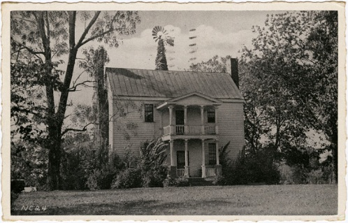 "Postcard titled ""The Governors Meeting Place,"" part of a series of postcards published by the North Carolina the Division of State Advertising in 1939."