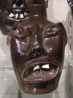 """Face Jug, about 1974, glazed stoneware by Evan Javan Brown, Sr.."" Image courtesy of Flickr user Cliff1066, uploaded on March 27, 2009."