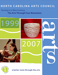 Report on the Arts Council covering 1999-2007. Image from the North Carolina Arts Council.