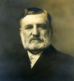Samuel Fox Mordecai (1852-1927), Trinity College law professor. Image from the North Carolina Museum of History.