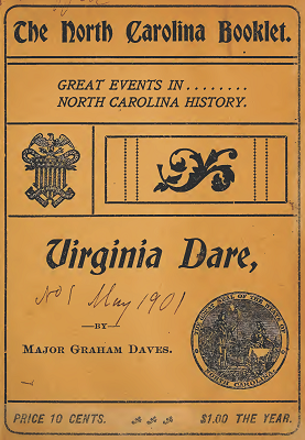 Cover of the first issue of The North Carolina Booklet, 1901.