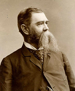 Photograph of Elias Carr, 1890-1900. Carr was president of the N.C. Farmer's Association and later governor. Image from the North Carolina Museum of History.