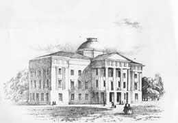 """The Old State Capitol at Raleigh."" Image courtesy of the  North Carolina War Between the States Sesquicentennial Commission."