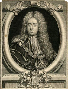 Henry Somerset, 2nd Duke of Beaufort (1684-1714), elected Palatine of Carolina in 1711. Image from the Wikimedia Commons.
