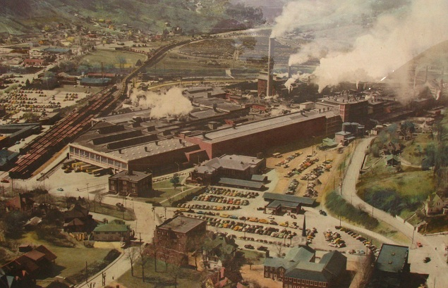 Picture of the Champion Paper Mill in Canton, N.C. circa 1950.
