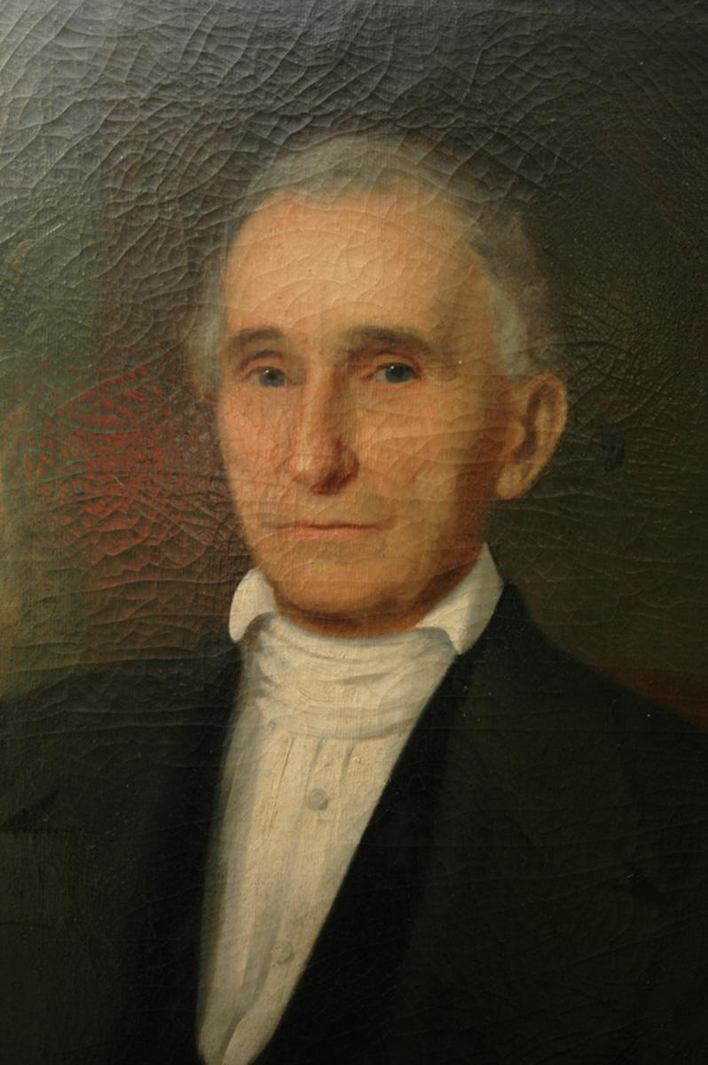 Oil painting of William Peace by William Garl Browne. Photo is courtsey from William Peace University.