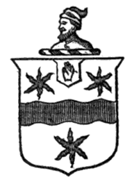 Coat of arms of Sir Richard Everard, baronet of Carolina. Image from the Southern History Association / Google Books.