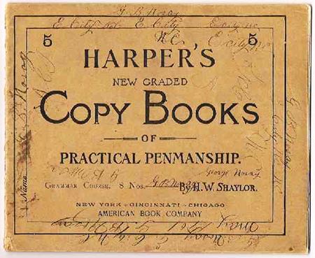 Harper's New Graded Copy Books of Practical Penmanship, 1901. Image from the North Carolina Museum of History.