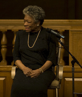 Maya Angelou speaking at Wake Forest University in Winston Salem, N.C., April 18, 2008. Image from Flickr user kyle tsui.