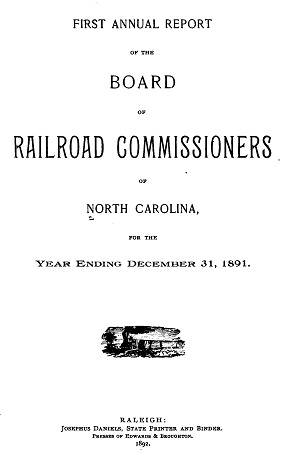 Annual Report of the Board of Railroad Commissioners of North Carolina (1892)