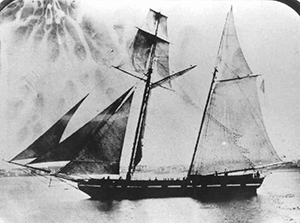 The USRC Gallatin, 1855, at Newport, Rhode Island. Image from the United States Coast Guard.