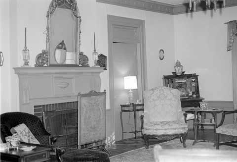 Interior of the Rosedale Plantation. Image courtesy of the State Archives of North Carolina.