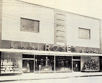 Rose's 5-10-25 store, Asheboro, circa 1949. Image from the North Carolina Digital Collections.