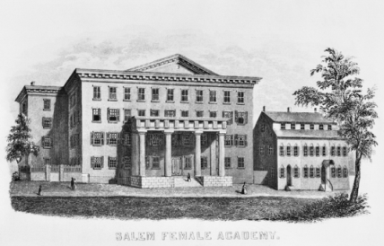 Salem Female Academy, ca. 1869. North Carolina Collection, University of North Carolina at Chapel Hill Library.