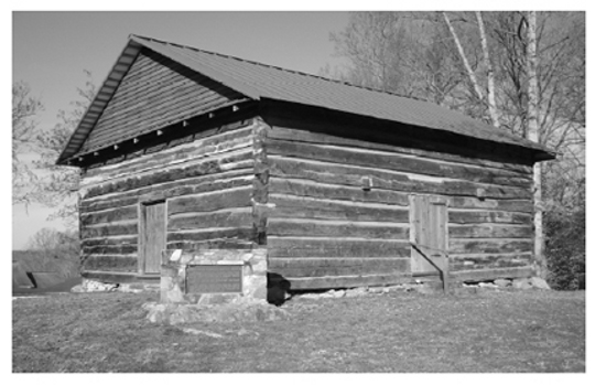 Sandy Creek Primitive Baptist Church, 1802, Randolph County. Image courtesy of Randolph County Historic Landmark Preservation Commision.