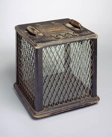 Ballot box, circa 1860-1950. Image from the North Carolina Museum of History.