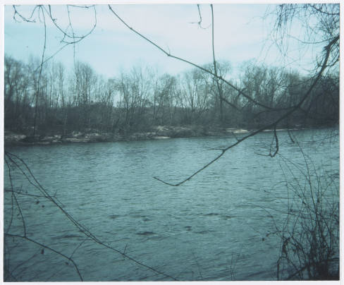 The Shallow Ford crossing of the Yadkin River between Forsyth and Yadkin Counties near northern Davie County. Image courtesy of the Davie County Public Library.