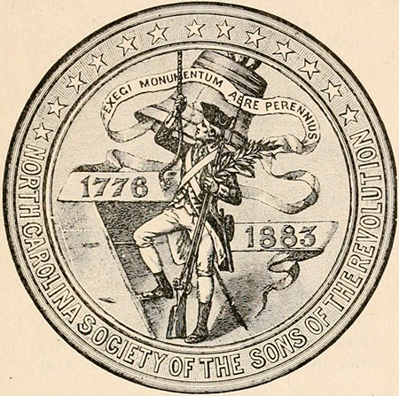 Seal of the Sons of the Revolution in the State of North Carolina, 1909. Image from Archive.org/Sloan Foundation.