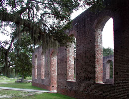 St. Philip's Church ruins, Brunswick Town. Image courtesy of NC Historic Sites, North Carolina Office of Archives & History