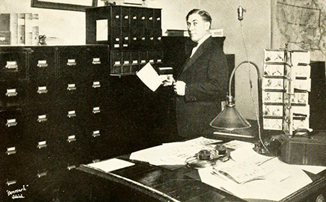 H. H. Honeycutt, director of the State Bureau of Identification, 1925. Image from Flickr user Government & Heritage Library, State Library of NC.