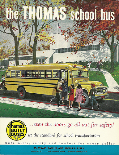 Thomas Built Buses, Inc. catalog, circa 1950s.