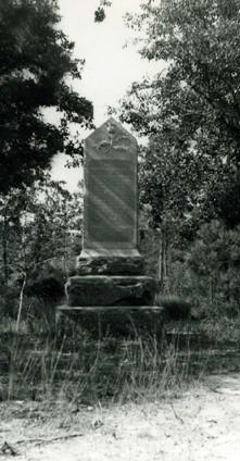 Photograph of a monument to Loyalists killed in the Battle of Moore's Creek Bridge. Image from the North Carolina Museum of History.