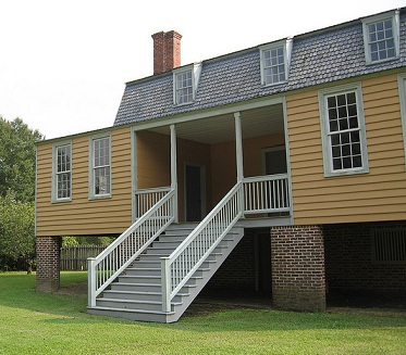 "A view of ""Shed Room #2,"" a travelers' room in the King-Bazemore house in Windsor, North Carolina."