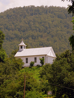 """Tuckasegee Weslyan Church."" Image courtesy of Flickr user Brent Moore."