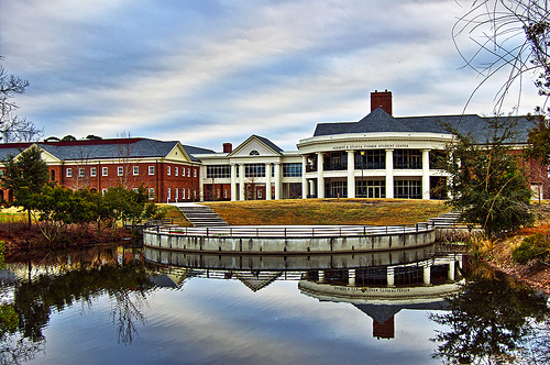 Herbert and Sylvia Fisher Student Center at the University of North Carolina Wilmington. Image courtesy of Aaron Alexander.