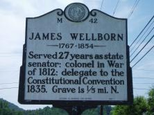 James Wellborn (Welborn)'s marker on NC 268 in Wilkesboro. Photo is courtesy of North Carolina Highway Historical Marker Program.
