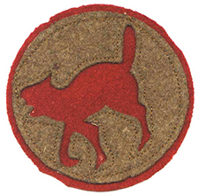 A shoulder patch insignia of the 81st National Army Division., a.k.a., the Wildcat Division, 1918. Image from the North Carolina Museum of History.