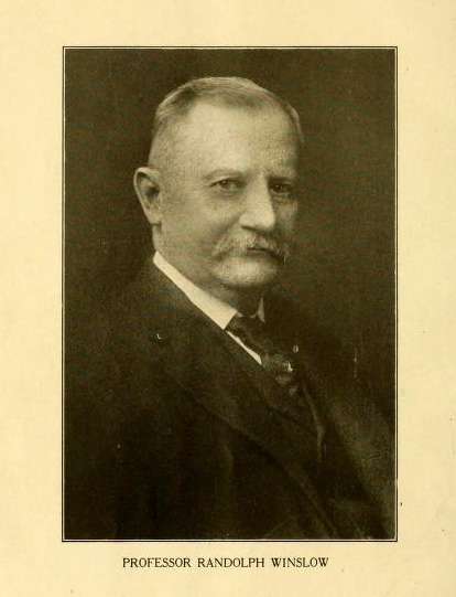Photograph of Randolph Winslow, M.D., in the <i>Bulletin of the the University of Maryland School of Medicine, Vol. 1, No.1</i>, June 1916.  Presented on Archive.org.