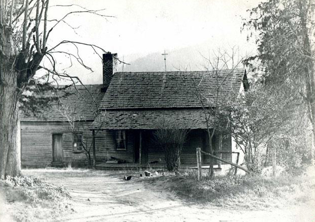 Photograph of the birthplace of Zebulon B. Vance, 1936. Image from the North Carolina Museum of History.