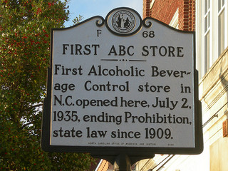 First ABC Store, NC Historical Marker.