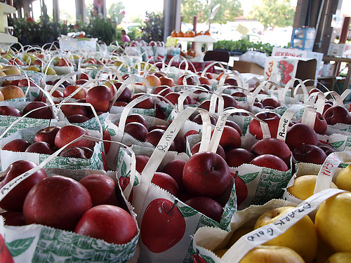 Apples at the State Farmers Market in Raleigh, NC